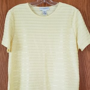 Lovely Buttery Yellow Sag Harbor Dressy Top Sz PXL